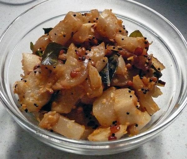 Turnip Bhaji/Sabji South Indian Style