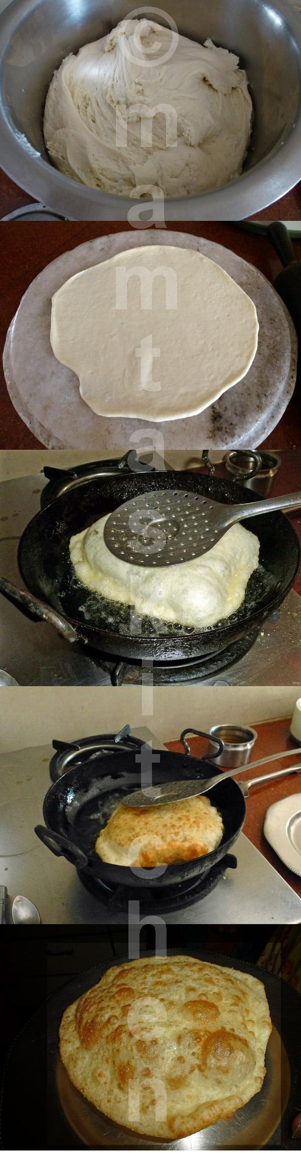 Bhatura 1, Deep Fried Indian Leavened Bread from Punjab