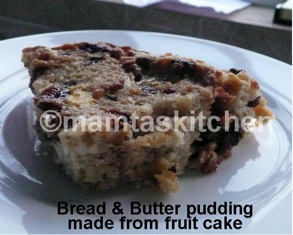 Bread and Butter Pudding 2 Made With Fruit Cake