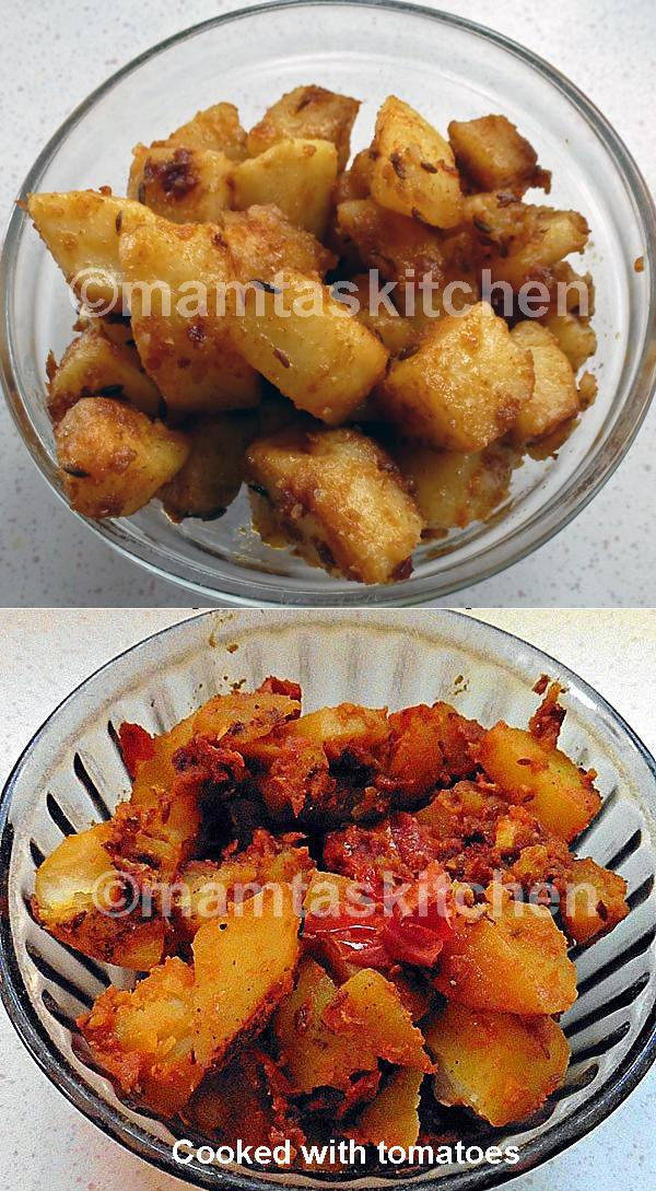 Potato Bhaji With Cumin Seeds Tarka (Jeera Aloo or Sukhe Aloo)
