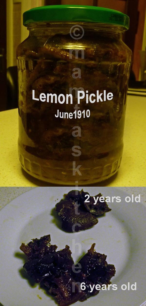 Lemon Pickle - 4, Traditional North Indian (Preserved Lemons)