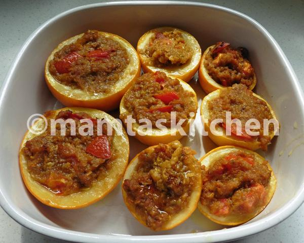 Spicy Stuffed Courgettes