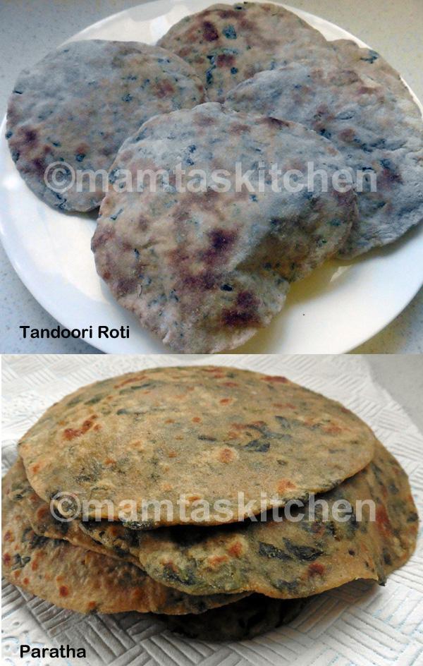 Methi or Fenugreek Leaves Tandoori Roti