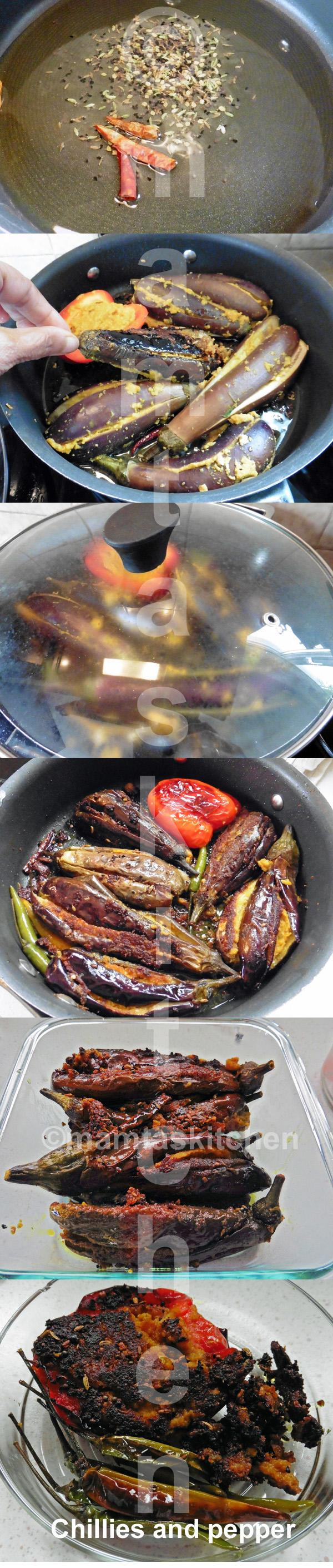 Aubergine Sabji Stuffed With Besan (Bengal Gram Flour) And Spices