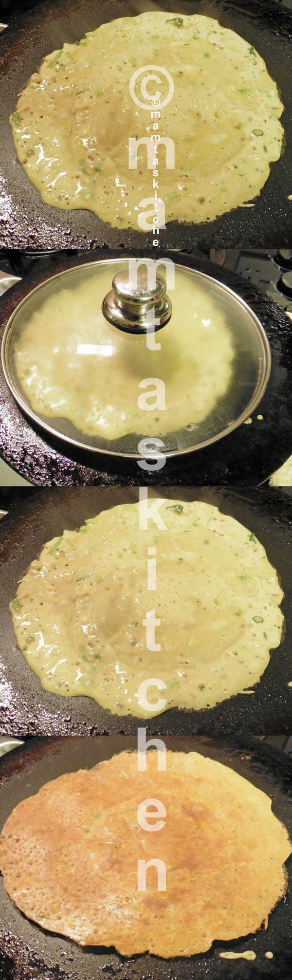 Besan (Gram Flour), Semolina, Potato And Onion Chilla Pancakes (Savoury & Vegan & Gluten Free)