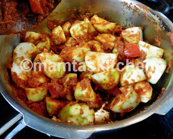 Tinda Round Gourd Masala Curry 2 With Tomatoes
